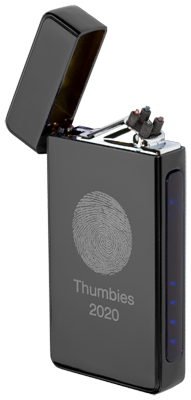 Thumbies USB Rechargeable Arc Lighter with Fingerprint